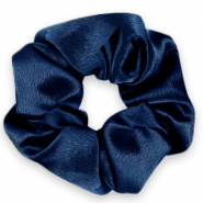 Scrunchie silky hair tie Deep Blue