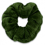 Scrunchie corduroy hair tie Dusty Olive