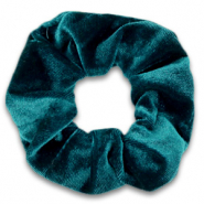 Scrunchie velvet hair tie Peacock Green