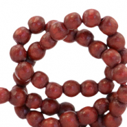 Wooden beads round 8mm Redwood Brown