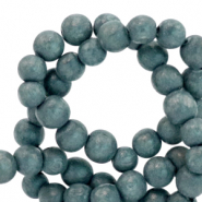 Wooden beads round 6mm Slate Grey