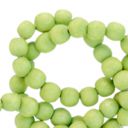 Wooden beads round 4mm Lime Green