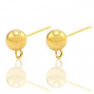 Stainless steel earrings with loop Gold