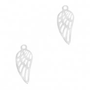 Stainless steel charms angel wing Silver