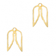 Stainless steel charms angel wings Gold