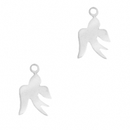 Stainless steel charms swallow Silver