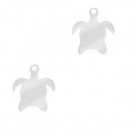 Stainless steel charms turtle Silver