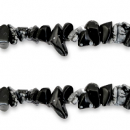 Chips stone beads Black Anthracite