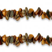 Chips stone beads Tobacco Brown