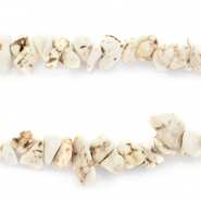 Chips stone beads Marble White