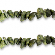 Chips stone beads Sage Green