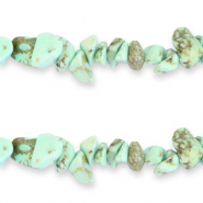 Chips stone beads Neo Mint Green