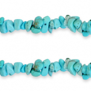 Chips stone beads Azure Blue