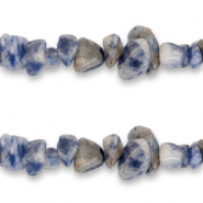 Chips stone beads Marble Blue