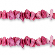 Chips stone beads Magenta Pink