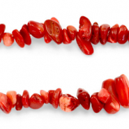 Chips stone beads Siam Red