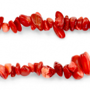Chips stone beads Crimson Red