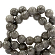 8 mm natural stone beads Jade Anthracite