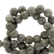 6 mm natural stone beads Jade Anthracite
