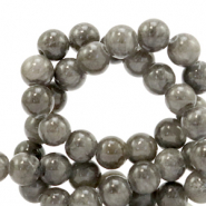 4 mm natural stone beads Jade Anthracite