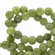 6 mm natural stone beads Jade Olive Green