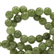 4 mm natural stone beads Jade Olive Green