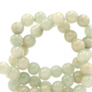 6 mm natural stone beads Jade Ice Green
