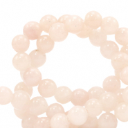 6 mm natural stone beads Jade Peach Nougat