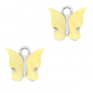 Charm with 1 loop butterfly Yellow-Silver