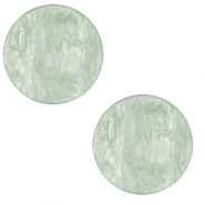 12 mm flat Polaris Elements Cabochon Lively Iceberg Green
