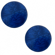 12 mm flat Polaris Elements Cabochon Lively True Blue