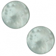 7 mm flat Polaris Elements cabochon Mosso Shiny Iceberg Green