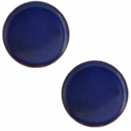 7 mm flat Polaris Elements cabochon Mosso Shiny True Blue
