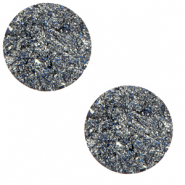 7 mm flat Polaris Elements cabochon Goldstein True Blue