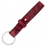 Cuoio keychain 15mm croco Magenta Purple