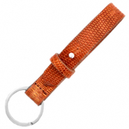 Cuoio keychain 15mm croco Samba Orange