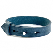 Cuoio bracelet leather 15 mm for 20 mm cabochon Blue Depths