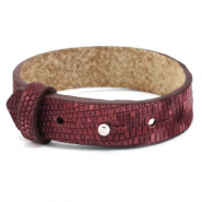 Cuoio bracelet leather croco 15 mm for 20 mm cabochon Magenta Purple