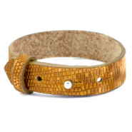Cuoio bracelet leather croco 15 mm for 20 mm cabochon Golden Harvest