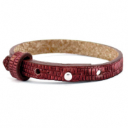 Cuoio bracelets leather 8mm croco for 12mm cabochon Magenta Purple