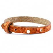 Cuoio bracelets leather 8mm croco for 12mm cabochon Samba Orange