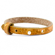 Cuoio bracelets leather 8mm croco for 12mm cabochon Golden Harvest