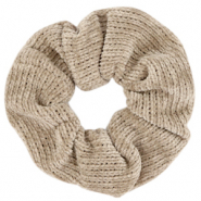 Scrunchie corduroy hair tie Taupe