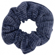 Scrunchie corduroy hair tie Denim Blue
