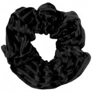 Scrunchie velvet hair tie Black