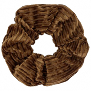 Scrunchie velvet hair tie Hazel Brown