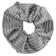 Scrunchie velvet hair tie Grey