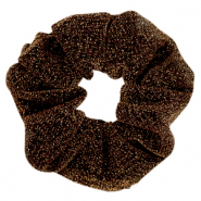 Scrunchie glitter hair tie Golden Brown