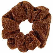 Scrunchie glitter hair tie Golden Copper