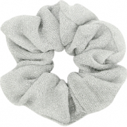 Scrunchie glitter hair tie Silver